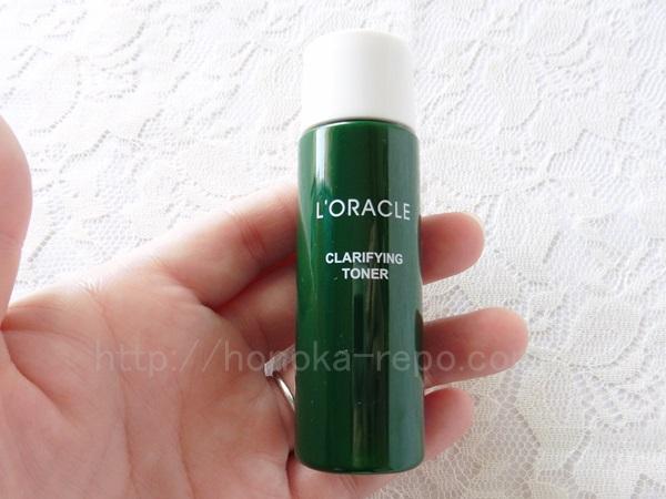 自然派スキンケアオラクルの化粧水は、植物の香りの肌なじみの良い化粧水でした。